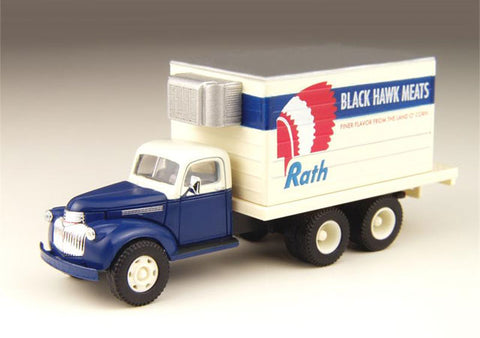 Classic Metal Works - Mini Metals HO scale '41/46 Chevrolet Delivery Truck (Rath Meats) #CMW30298