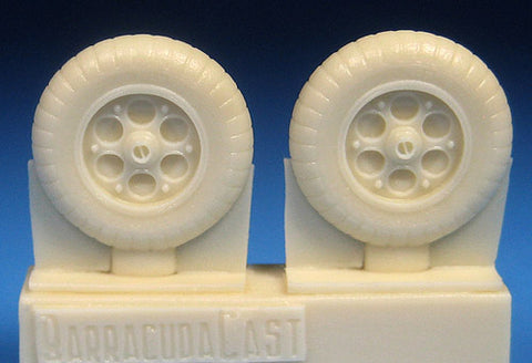 BarracudaCast 1/72 scale resin Fw 190A-1 thru A-5 Mainwheels for HSG TMY EDU