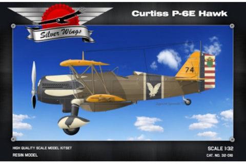 Silver Wings Models 1/32 resin kit of the Curtis P-6E Hawker - MPN# 32-016