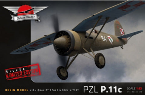Silver Wings Models 1/32 resin kit of the PZL P.11 - MPN# 32-018