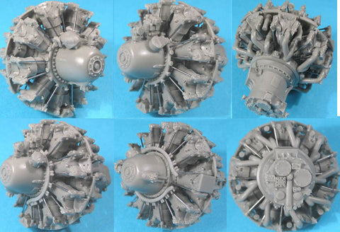 1/32 Vector Resin Pratt & Whitney R-2800 A/B (early) Engine #32001