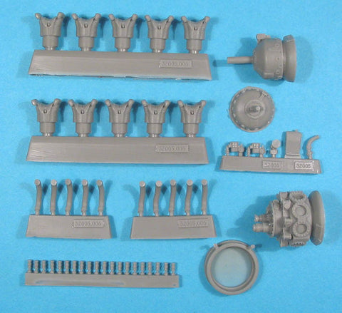 1/32 Vector Resin Wright R-1820G (mid) Shvetsov M-62/M-63 Engine #32-005