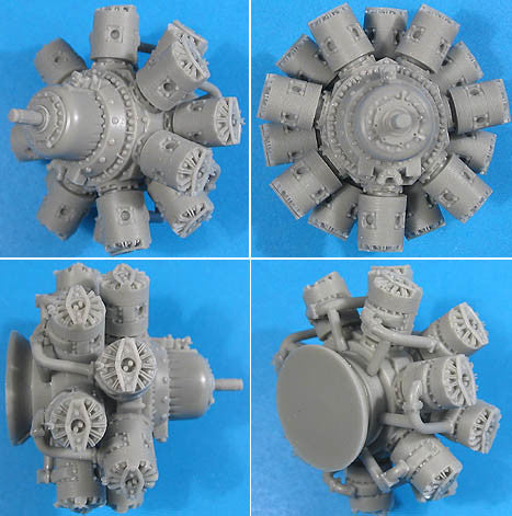 1/32 Vector Resin Bristol Hercules Engine #32-007