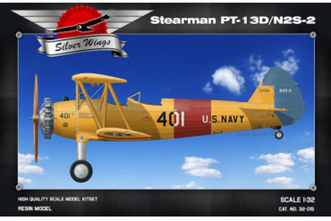 Silver Wings Models 1/32 resin kit of the Boeing Stearman - MPN# 32-015
