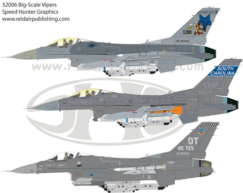 Speed Hunter Graphics 32006 1/32 Decal F-16 Big Scale Vipers Tamiya