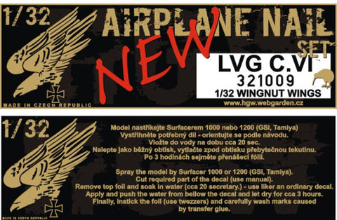 HGW 1/32 aircraft nails for LVG C.VI for Wingnut Wings - #321009