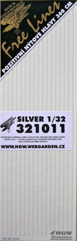 HGW 1/32 aircraft rivets - Free lines - 285cm - #321011