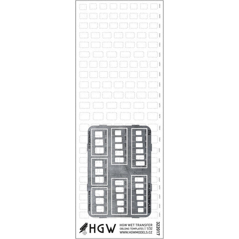 HGW 1/32 Rivets Oblong Templates - HGW322021