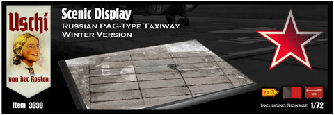 Uschi 1/72 Scenic Print Russian PAG-Type Taxiway (Rect./Winter) - USH3030