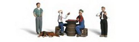 "Woodland Scenics N Scale Scenic Accents ""Checker Players"" (8pcs) - A2132"