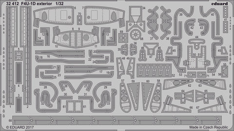 Eduard 1/32 Photoetched F4U-1D exterior for Tamiya kit - 32412