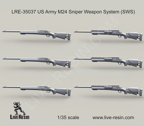 Live Resin 1/35 US Army M24 Sniper Weapon System (SWS) - LRE35037