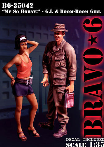Bravo6 1/35 Me So Horny GI & Boom Boom Girl unpainted resin figures B635042