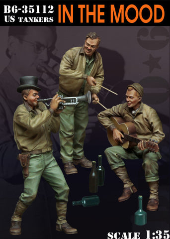 "Bravo6 1/35 US tankers ""In the Mood""- unpainted figures - B635112"