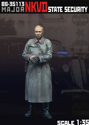 Bravo6 1/35 resin unpainted figure of Major NKVD State Security  - B635113