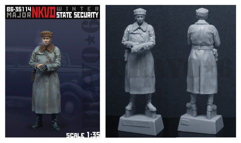 Bravo6 1/35 resin unpainted figure of Major NKVD Winter version - B635114