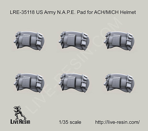 Live Resin 1/35 scale US Army N.A.P.E. Pad for ACH/MICH Helmet - LRE35118