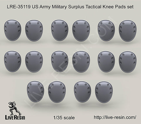 Live Resin 1/35 scale US Army Military Surplus Tactical Knee Pads set - LRE35119