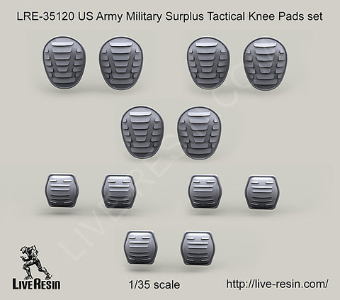 Live Resin 1/35 US Army Military Surplus Tactical Knee Pad & Elbow Pad Set - LRE