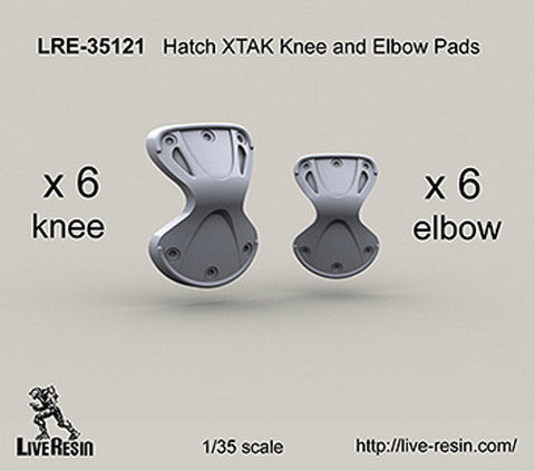 Live Resin 1/35 scale Hatch XTAK Knee and Elbow Pads - LRE35121