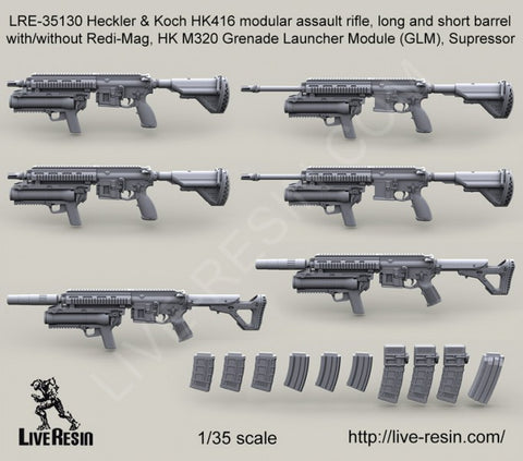 Live Resin 1/35 Heckler & Koch HK416 modular assault rifle  (see details) - LRE3