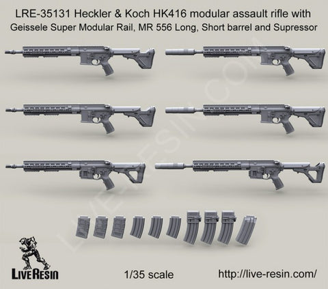 Live Resin 1/35 Heckler & Koch HK416 modular assault rifle see details LRE35131