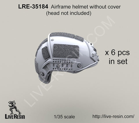 Live Resin 1/35 LRE35184 Airframe helmet without cover head not included x6