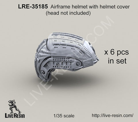 Live Resin 1/35 LRE35185 Airframe helmet with cover head not included x6