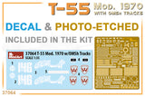 MiniArt 1/35 scale T-55 Mod. 1970 WITH OMSh TRACKS - Model kit #37064