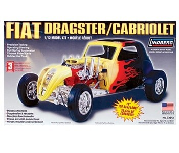 "LINDBERG 1/12 scale FIAT DRAGSTER 12"" kit#73043"
