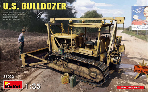 MiniArt 1/35 scale U.S. BULLDOZER - Model kit #38022