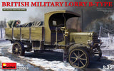 MiniArt 1/35 scale WWI British Military Lorry B-Type Truck - model kit #39003