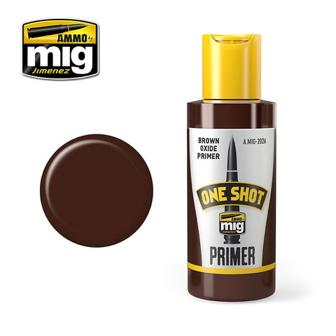 AMMO of Mig Jimenez ONE SHOT PRIMER - BROWN OXIDE - AMIG2026
