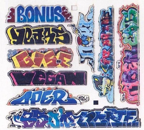Blair Line Graffiti Decals - N Scale Mega Pack No. 13 #1262