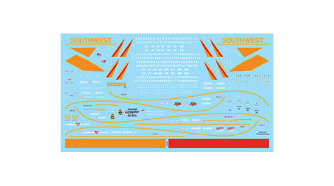 Fundekals 1/144 decals Boeing 737NGs Southwest Airlines Canyon Blue Livery