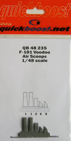 Quickboost 1/48 Resin F-101 Voodoo air scoops QB48235 for Revell/Monogram