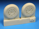 Barracuda Cast 1/48 BR48404 Hawker Tempest Late Mainwheels Blk Tread for Eduard