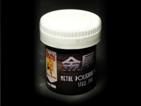 Uschi Metal Polishing Powder - Steel - for Plastic Models - #4009 25ml Jar