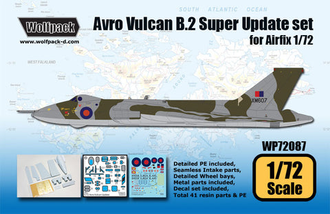 Wolfpack 1/72 scale Avro Vulcan B.2 Super Update set for Airfix - WP72087