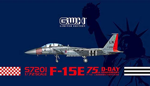 Great Wall Hobby 1/72 scale F-15E Strike Eagle 75th Anniversary D-Day model kit - S7201