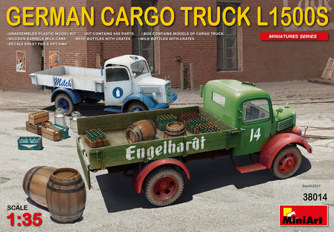 MiniArt 1/35 scale GERMAN CARGO TRUCK L1500S - model kit #38014