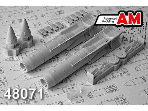 Advanced Modeling 1/48 resin KAB-500L 500kg Laser-guided Air Bomb x2 - AMC48071