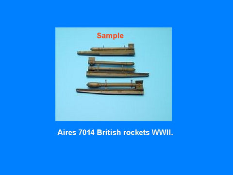 Aires 1/72 resin British Rockets WWII in blister pack w/photoetch #7014