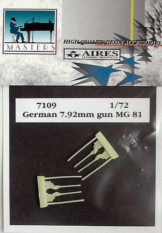 Aires 1/72 scale resin German 7,92mm gun MG 81Z - MPN 7109