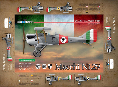 Lukgraph 1/32 Macchi Ni.29 Resin Multi Media kit - 32-12