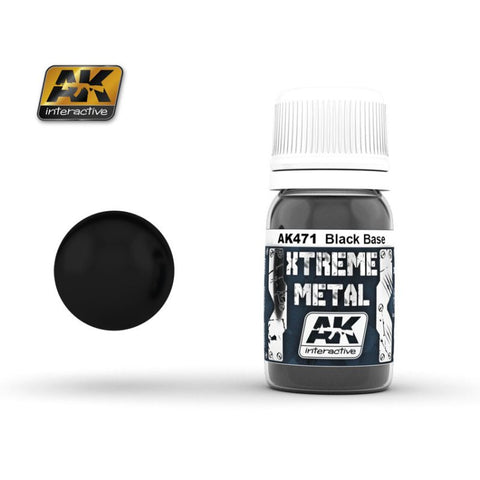 AK Interactive AK471 Xtreme Metal line BLACK BASE Enamel - 30ml
