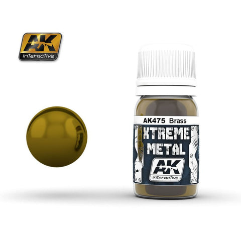 AK Interactive AK-475 Xtreme Metal BRASS 30mL enamel