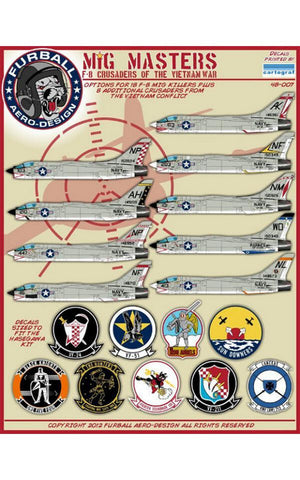 Furball decals 1/48 MiG Masters F-8 Crusaders #48-007