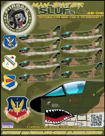 Furball 1/48 decal MAN-Eater SLUFs options for 9 A-7D  #48-016