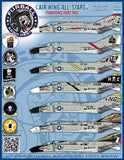 Furball 1/48 decals Air Wing All-Stars Phantoms Pt II for Academy